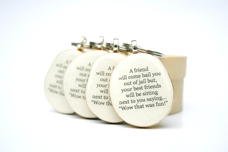Best Friend Key Chain Set Wood Bff Best Friend By