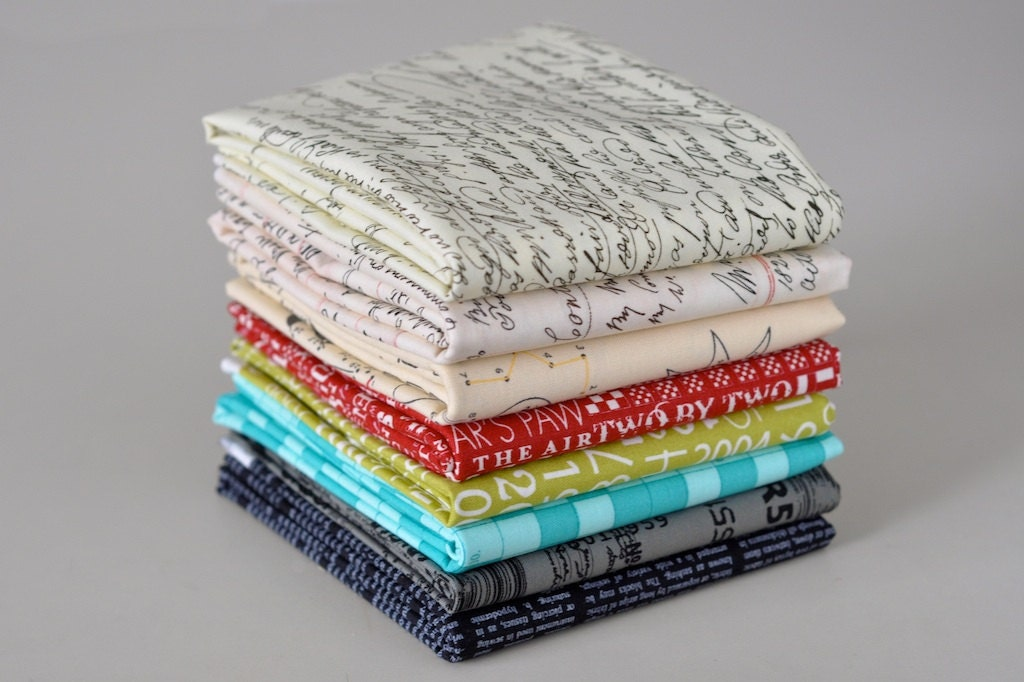 Text The Rainbow Fat Quarter Bundle of Eight