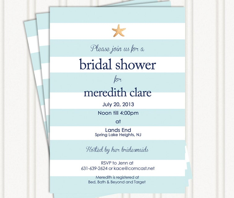 Beach Bridal Shower Invitations By GingerSnapsOriginal On Etsy