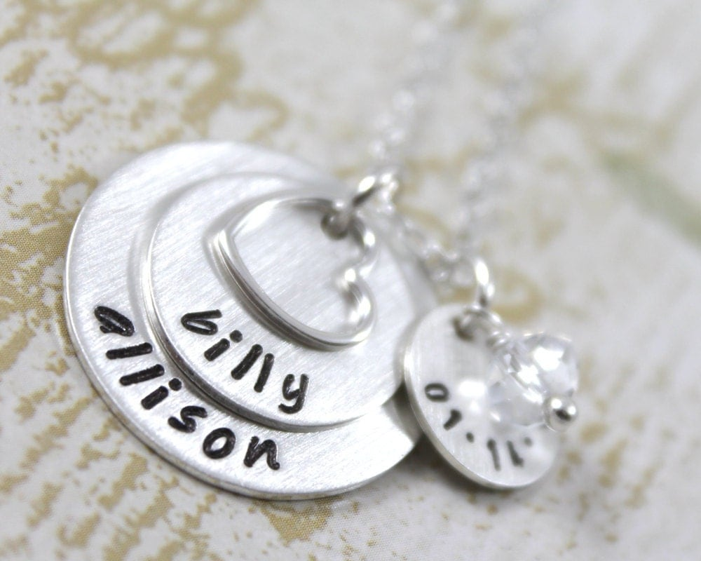 Silver Wedding Anniversary Gifts For Wife : ... Wife with Names and Date, Anniversary Gift, Wedding Gift, All Sterling