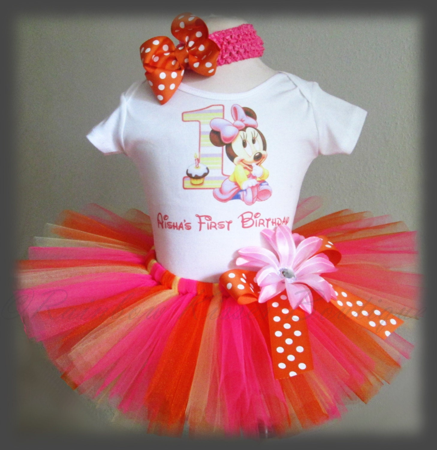 1st Birthday Minnie Tutu Outfit Minnie Birthday By RBKBoutique