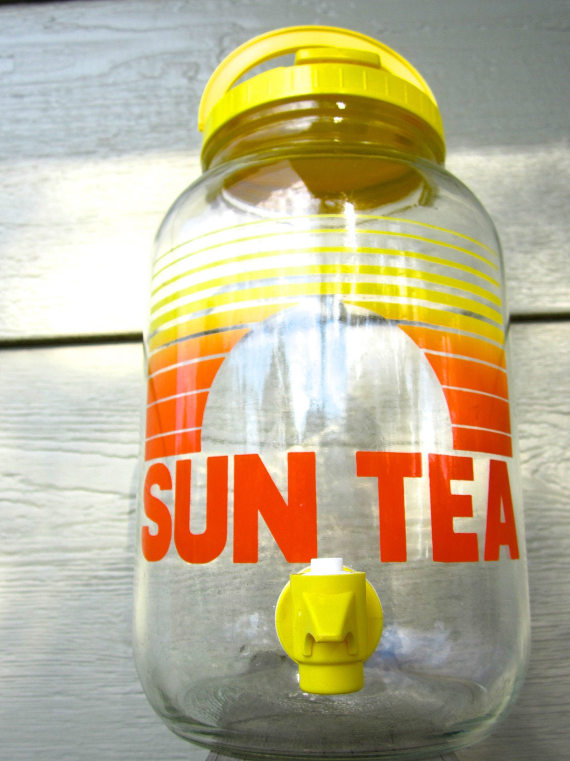 Vintage 1970s Glass Gallon Sun Tea Jar by AfterWhileCrocodile