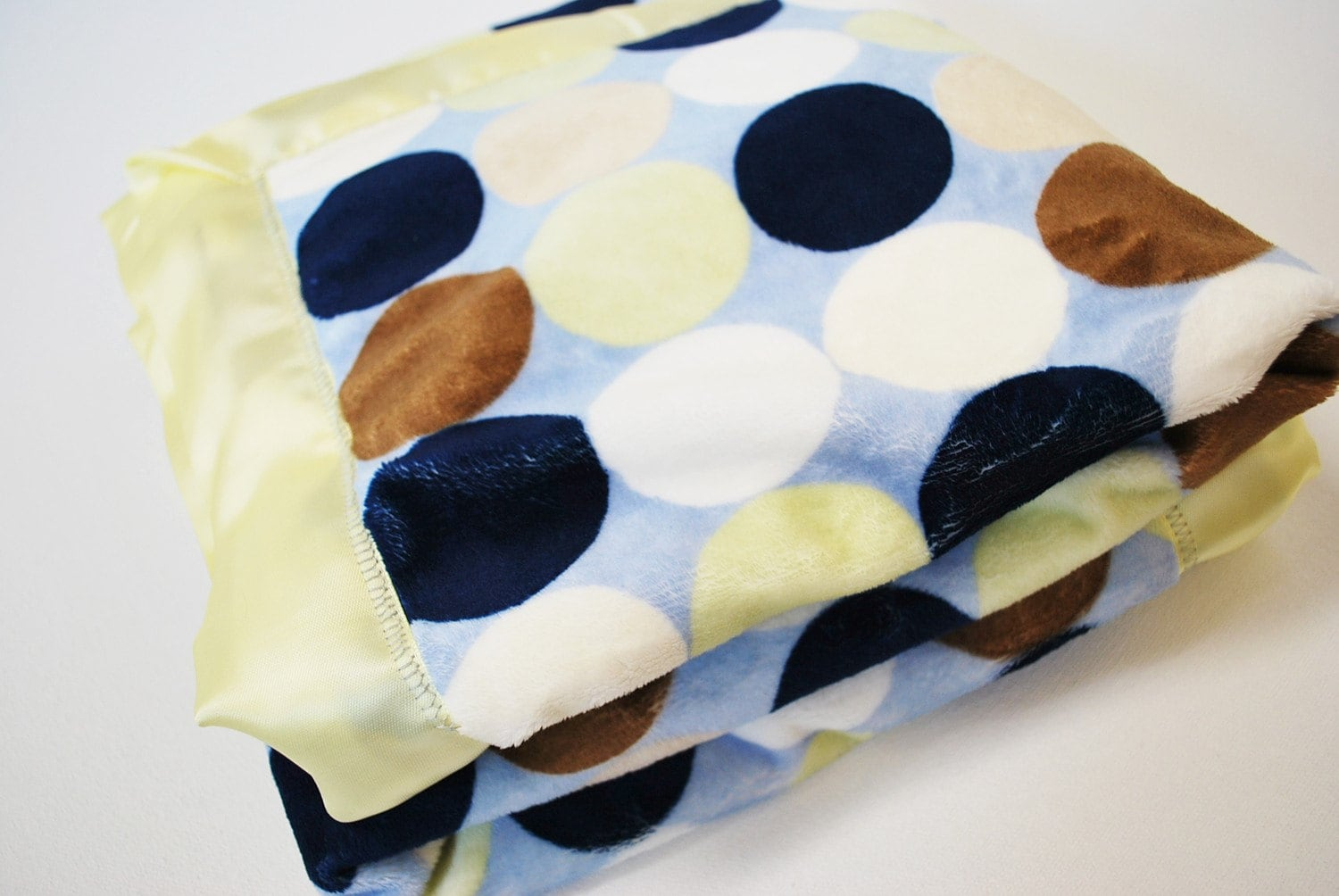 Minky Baby Blanket.  Lime Dot Minky Blanket - Made to Order - claireandjanae