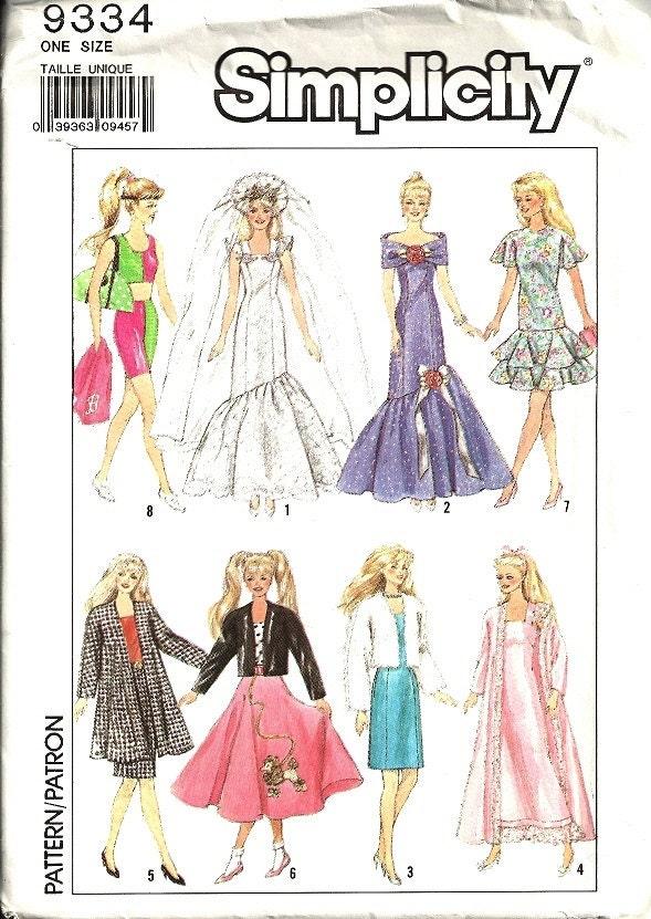 Free Doll Dress Knitting Pattern Barbie Doll Evening Dress. I make ...
