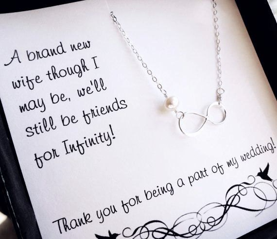 Ideas For Wedding Gift Notes : ... gifts, Pearl necklace, Bridesmaid thank you card, Jewelry gifts for