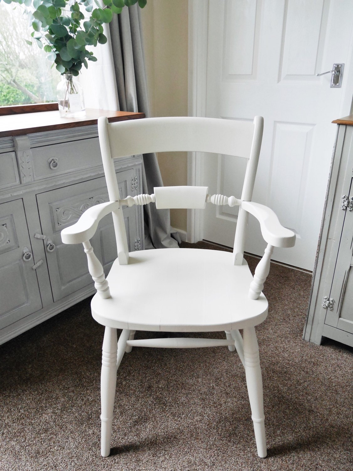 Custom Painted Chairs Pastel Kitchen Dining Hand Painted Wooden Vintage Antique Solid Farmhouse Shabby Cottage Chic