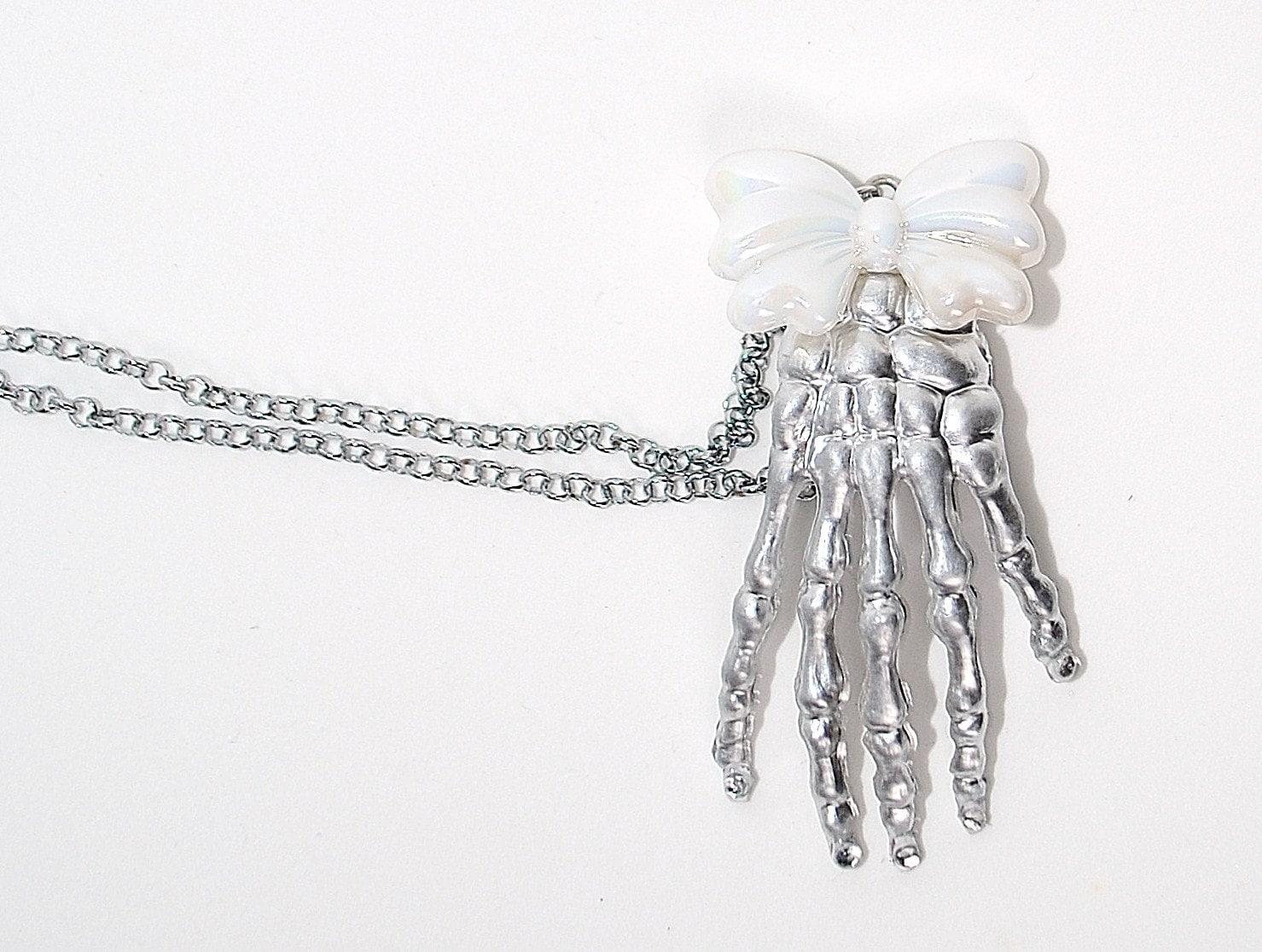 Skeleton Crystal Hand Clip