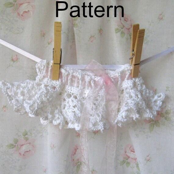 Free Crochet Pattern For Baby Tutu : Crochet Lace Baby TuTu and Headband Pattern by CielosCloset