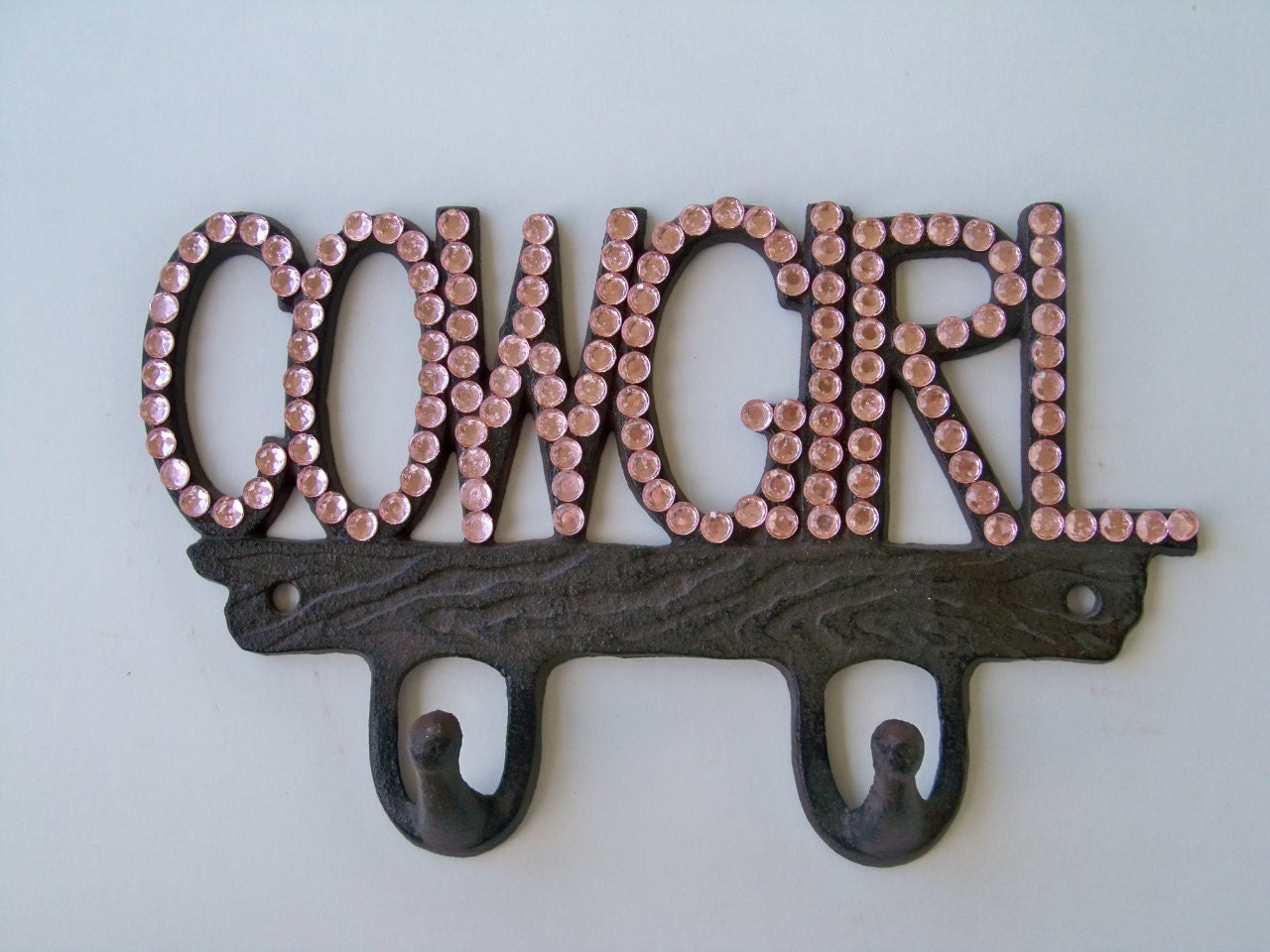Pink Cowgirl Sparkle On Brown Metal Wall By Coalcreekcrossing