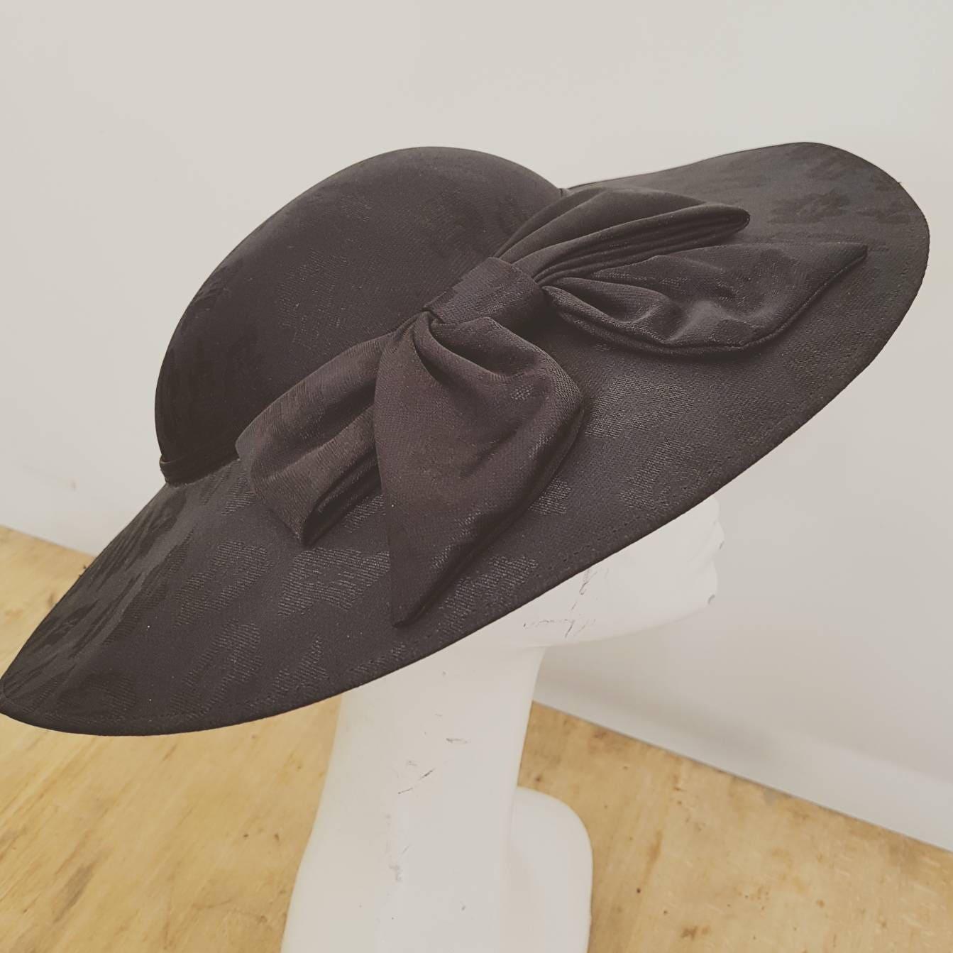 Vintage hat  formal hat  black hat races  wedding hat  Vintage Kangol hat