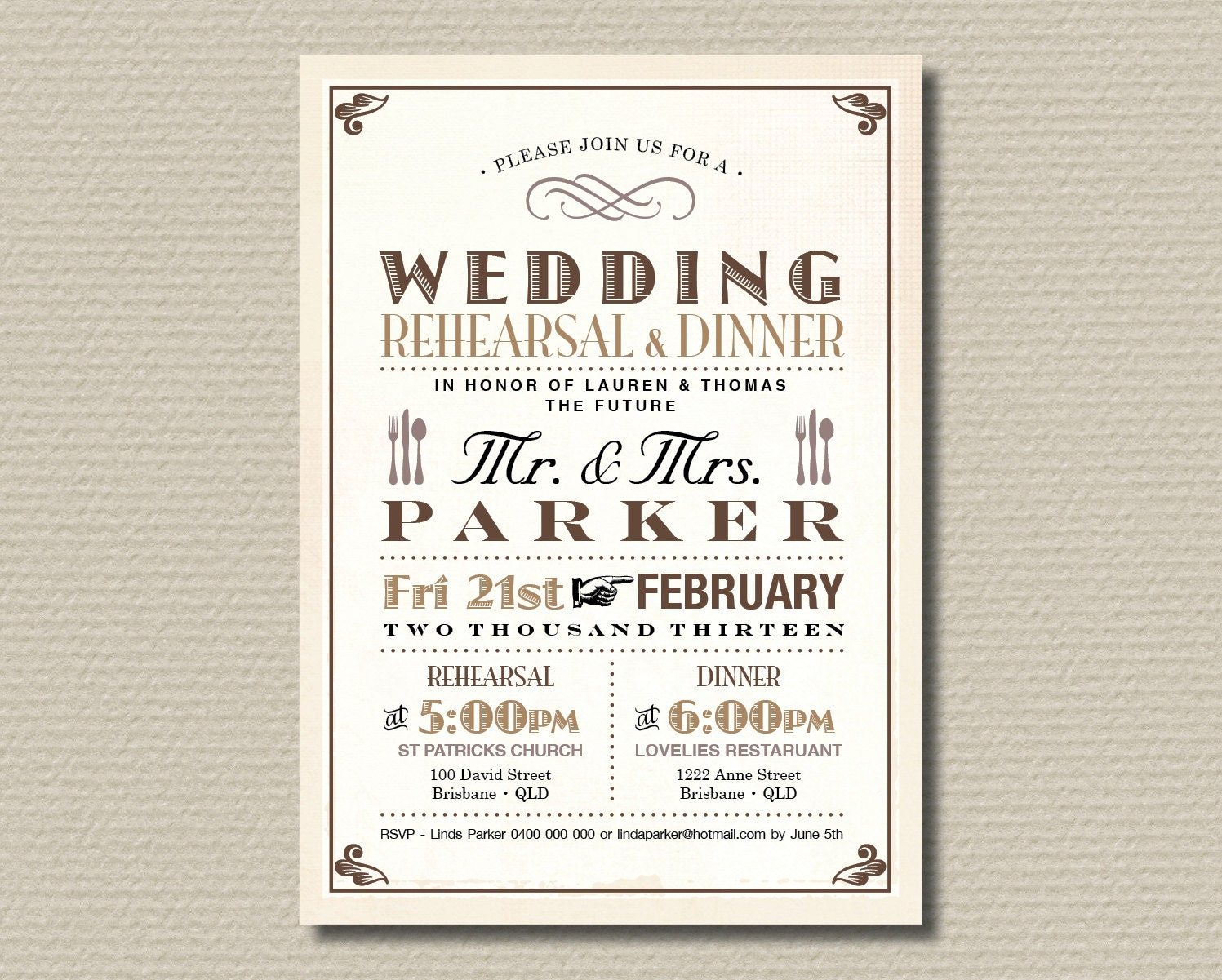 wedding rehearsal dinner invitations templates