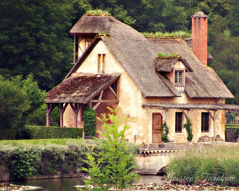 Marie Antoinette's Hamlet, Versailles Photo - 8x10 - Cottage Chic, Shabby, Old, Forest, Fairytale, Storybook, Village, Hansel and Gretel - gypsyfables