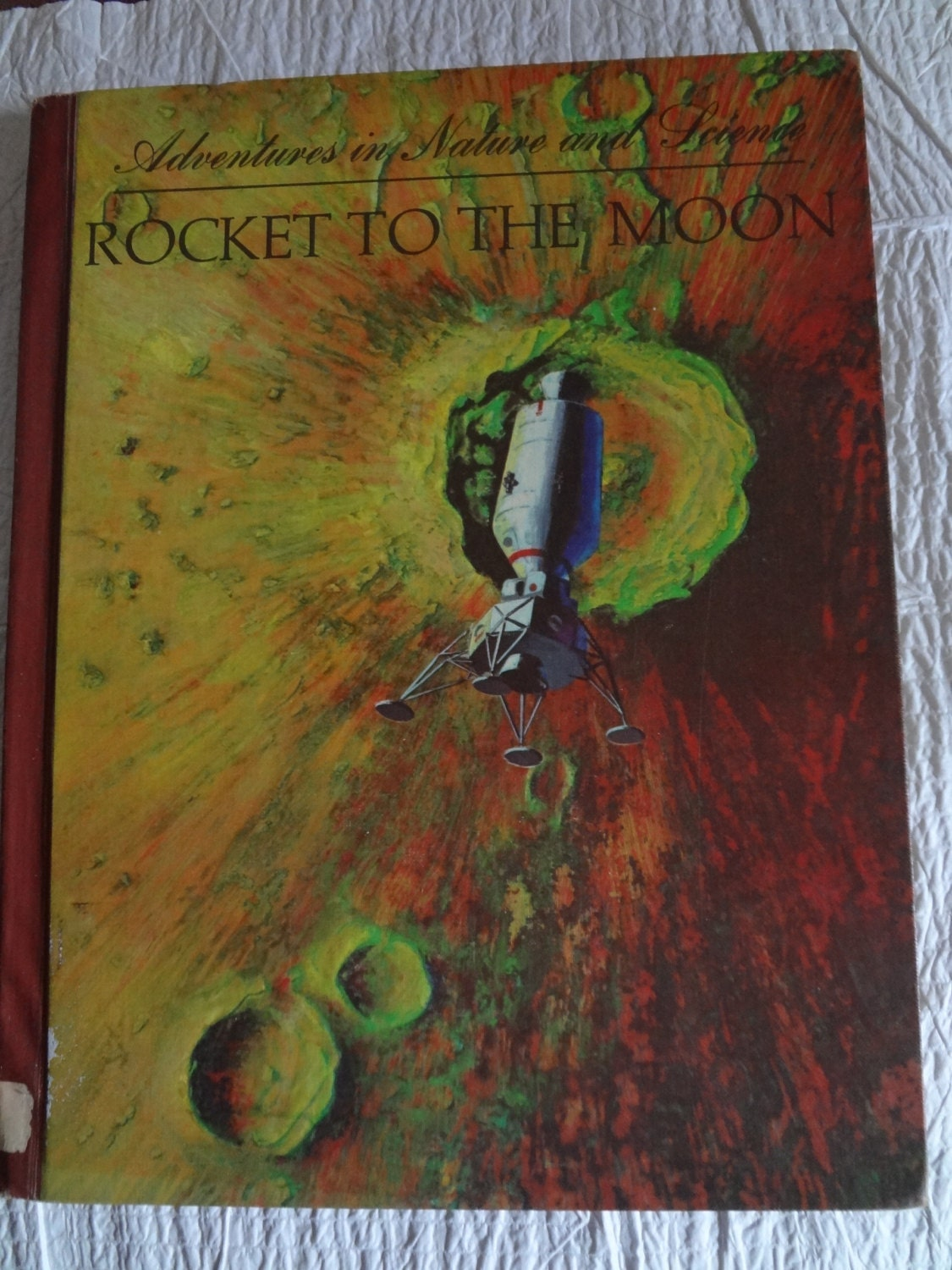 Adventures in Nature and Science  Rocket to the Moon by Chesley Bonestell - manyexpressionsinart