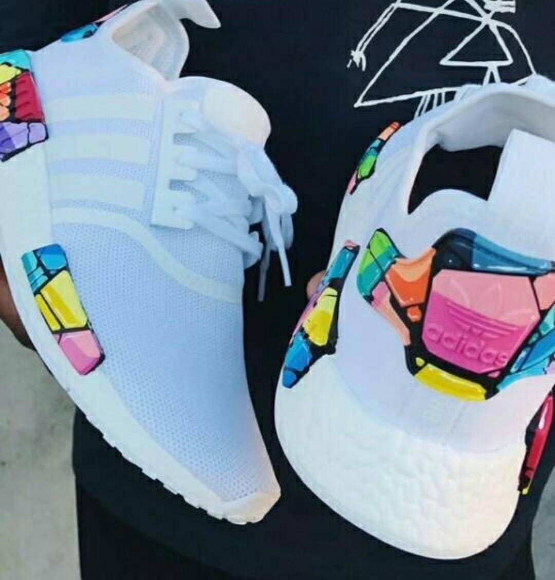 Adidas Nmd Painted Trainers Adidas Sneakers Originals Shoes Authentic Womens Trainers