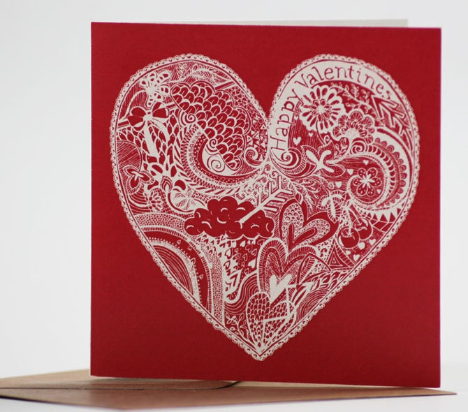 Editors Picks Valentine Cards Etsy Journal – Image of Valentine Card