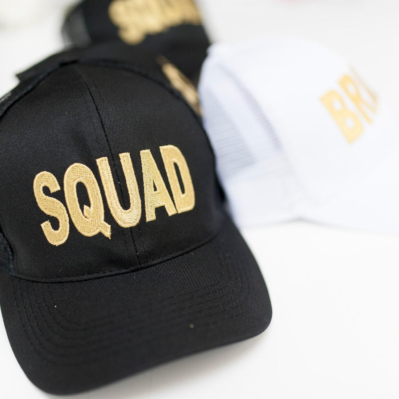 Black Squad Baseball Cap  Hen Party Caps  Bride Squad Baseball Cap  Hen Party Beach Cap