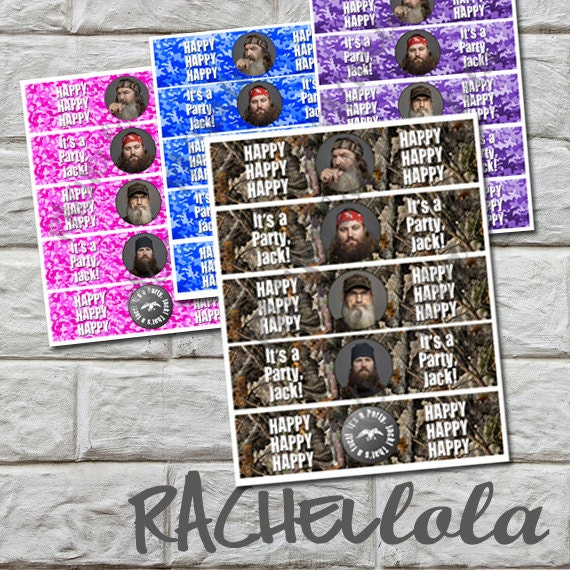 DOWNLOAD - Duck Dynasty Water Bottle Labels, printable, DIY, Duck