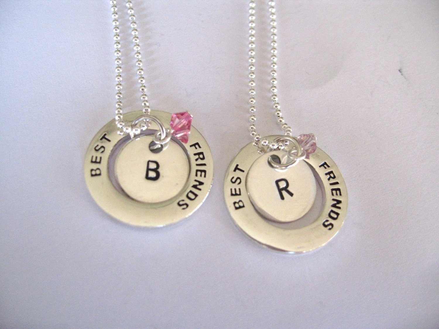 personalized best friend charm necklaces matching by