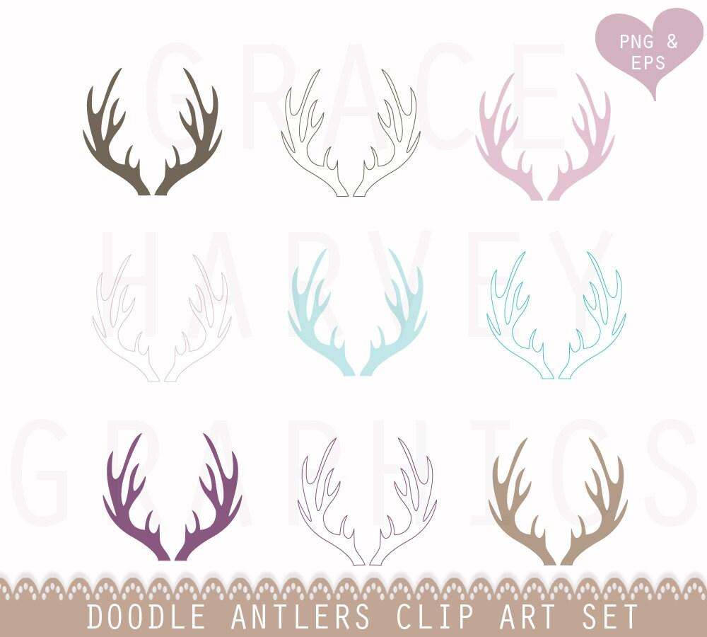 Elk antlers clip art