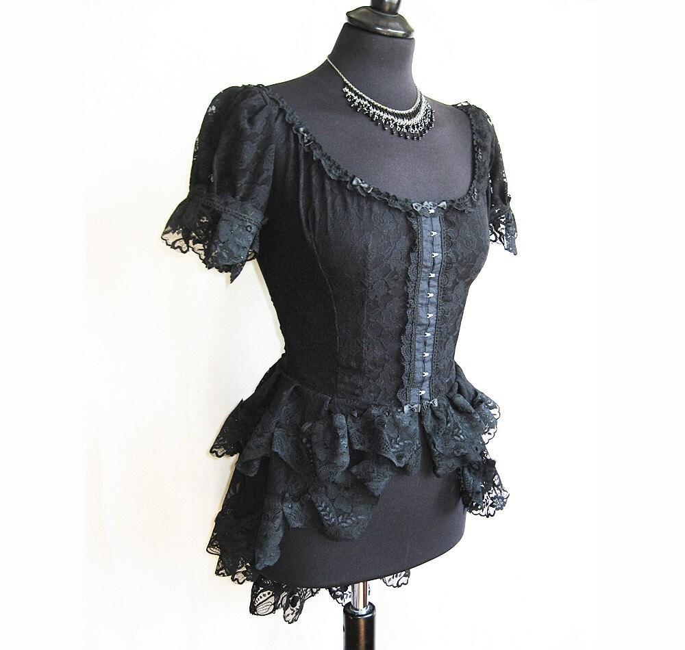 Blouse Frances, victorian, steampunk, burlesque, lolita, Somnia Romantica by Marjolein Turin - SomniaRomantica