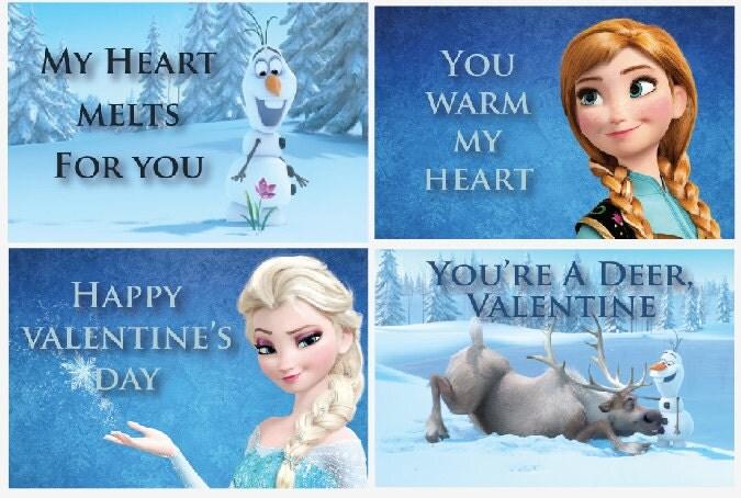 Frozen valentine cards