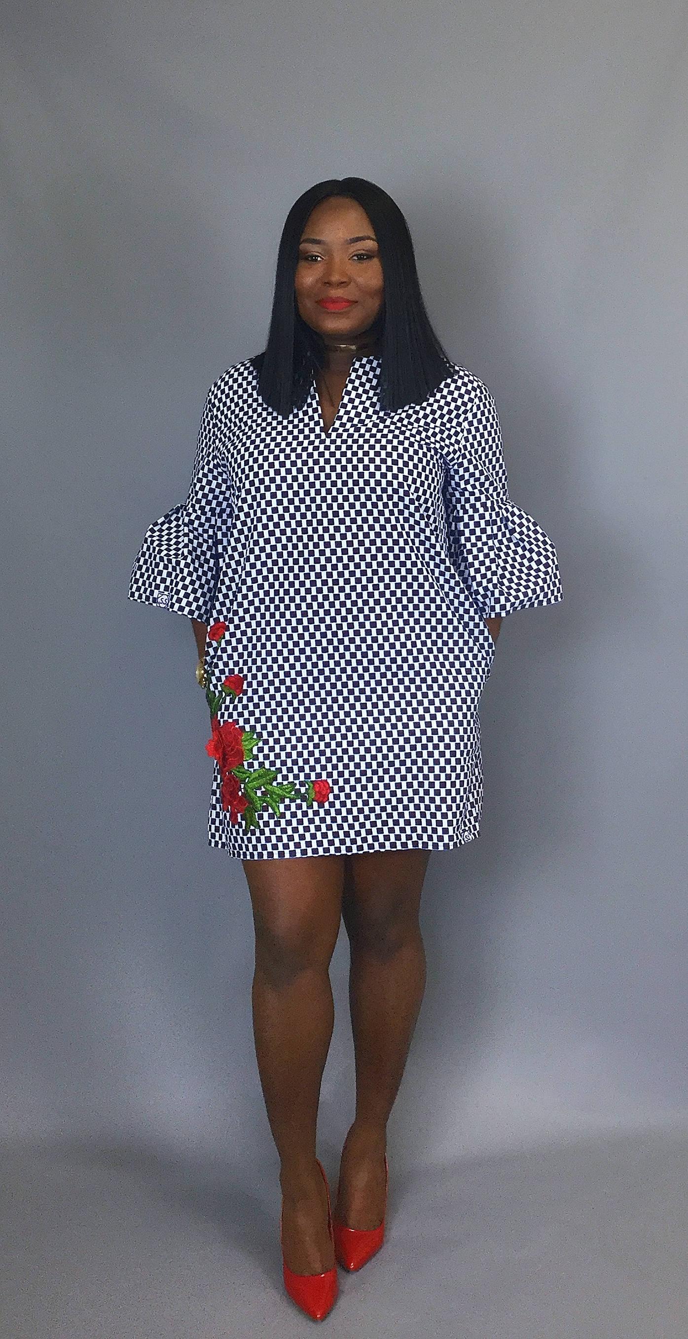 African print handmade shift dress floral dressWax print dresswomens clothing
