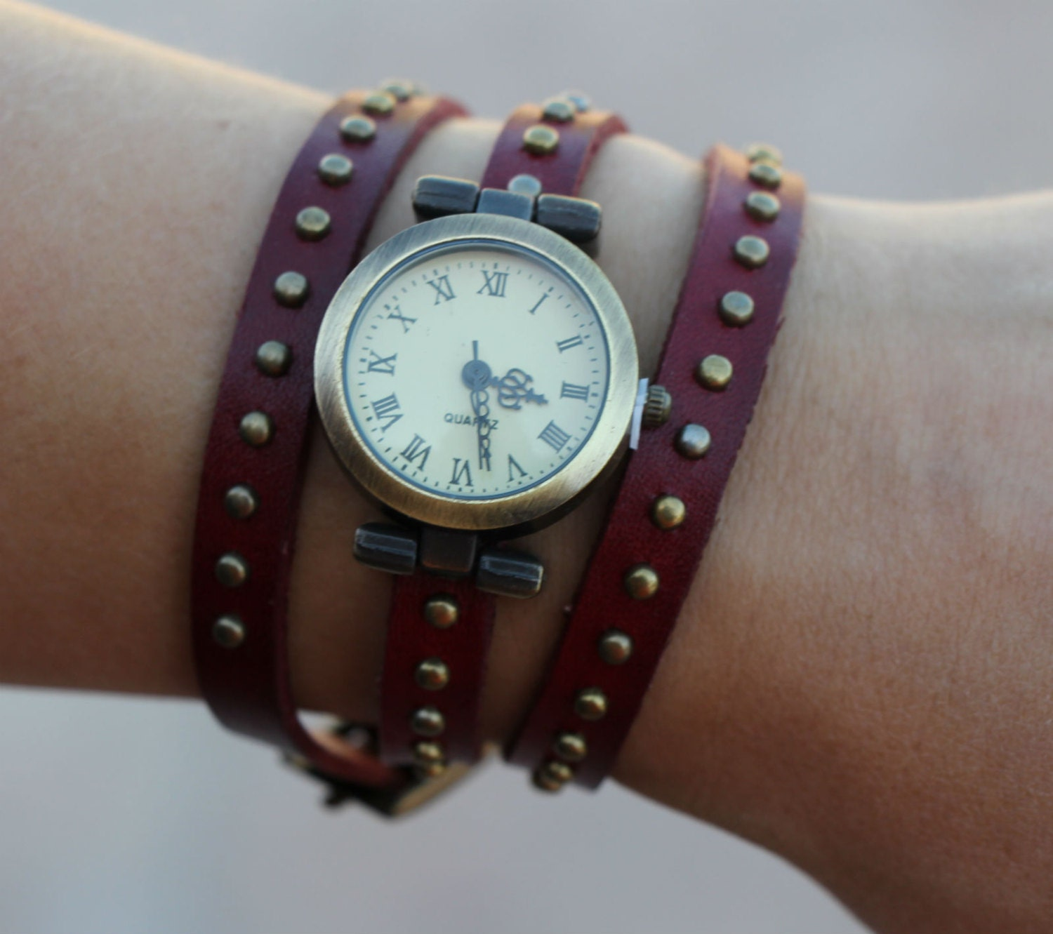 leather wrap womens watches fashion by