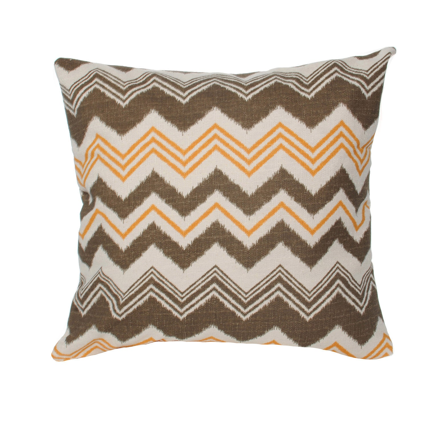 Decorative Throw Pillows Clearance : Items similar to Clearance Decorative Pillow Cover Bohemian Chevron in Brown and Orange 20x20 ...