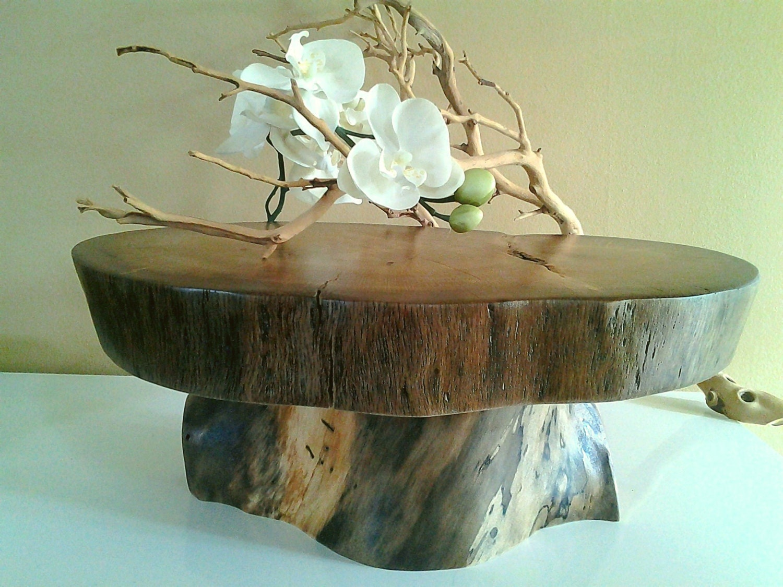 large oak tree trunk cake stand rustic wedding by jtlcreations. Black Bedroom Furniture Sets. Home Design Ideas