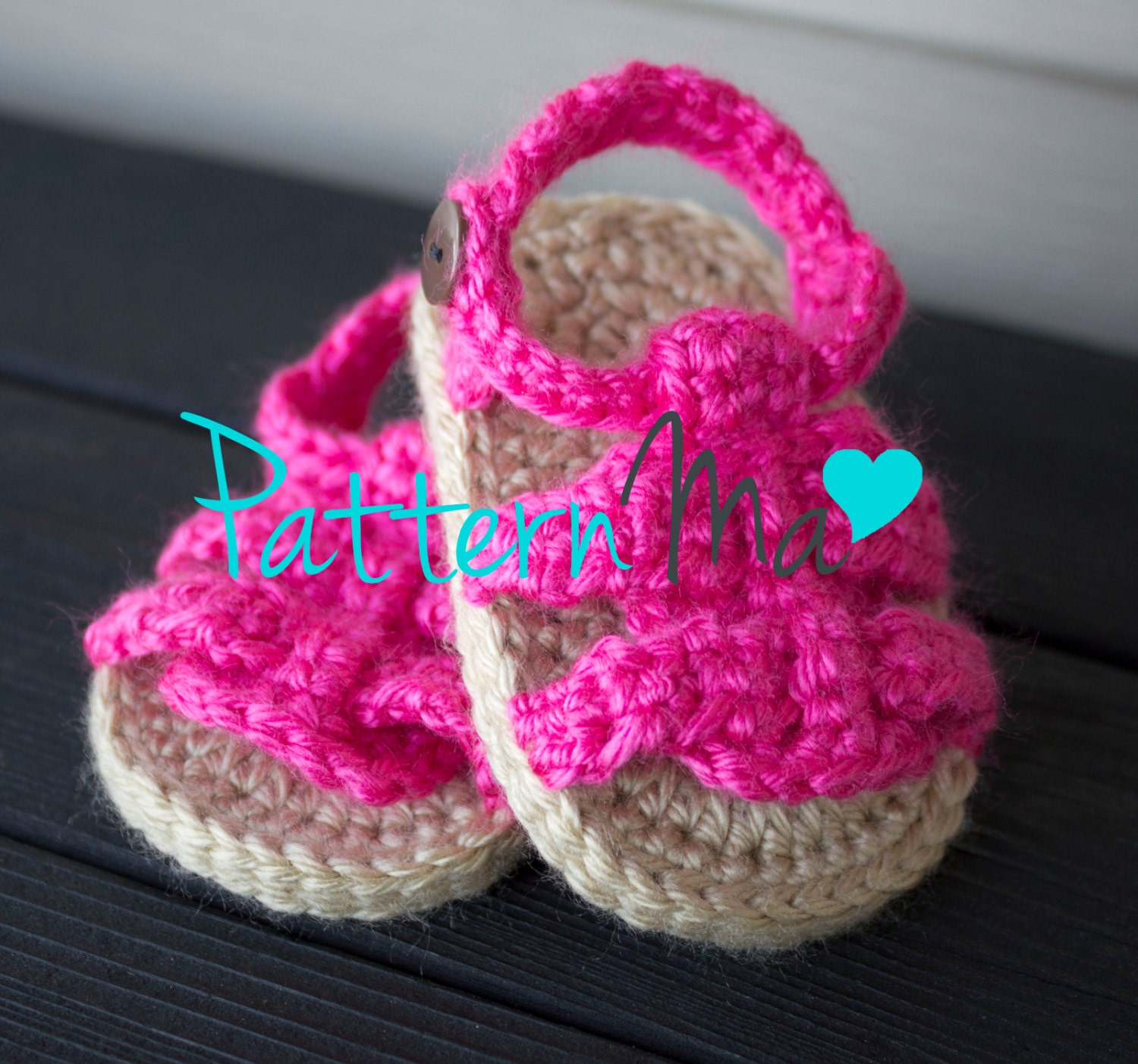 Crochet Pattern Baby Girl Sandals : Items similar to Crochet Baby Sandals Pattern Boy or Girl ...