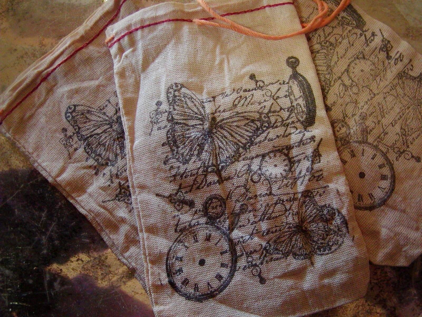 СБОР СУМКИ Набор из 3 Муслин мешки Drawstring - Чехол рук штампованных Старый syle Всемирным
