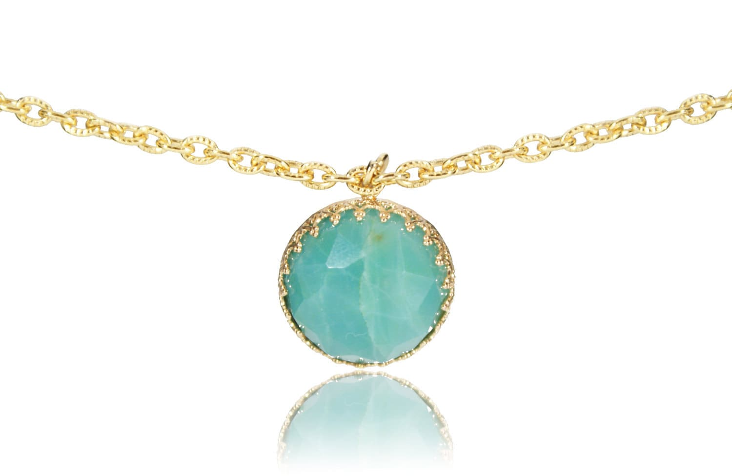 Amazonite Pendant Necklace - NICOLGOLD