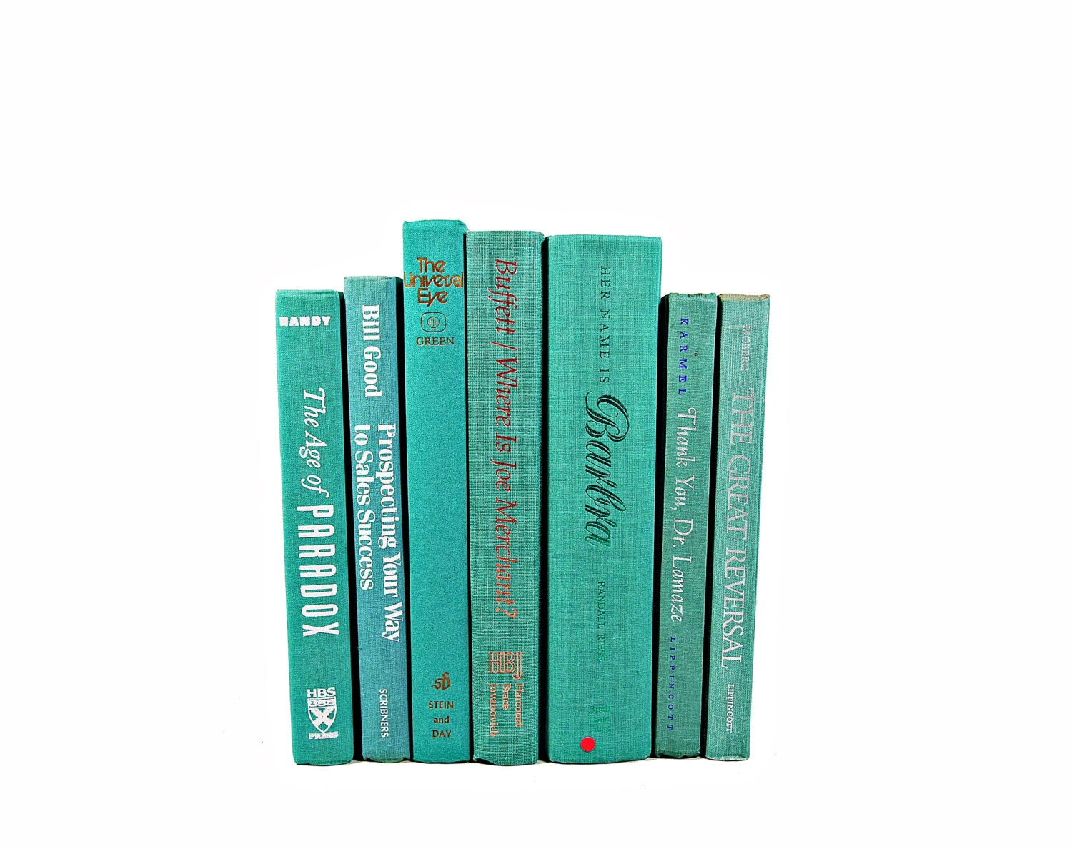 Teal Turquoise Decorative Books Book Collection By
