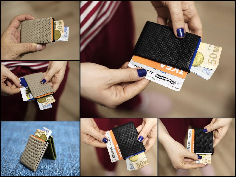 Limited Edition NERO Wallet  Minimalist Wallet Mens Wallet Full Grain Leather Wallet Womens Wallet RFID Blocking  Original Nero Wallet