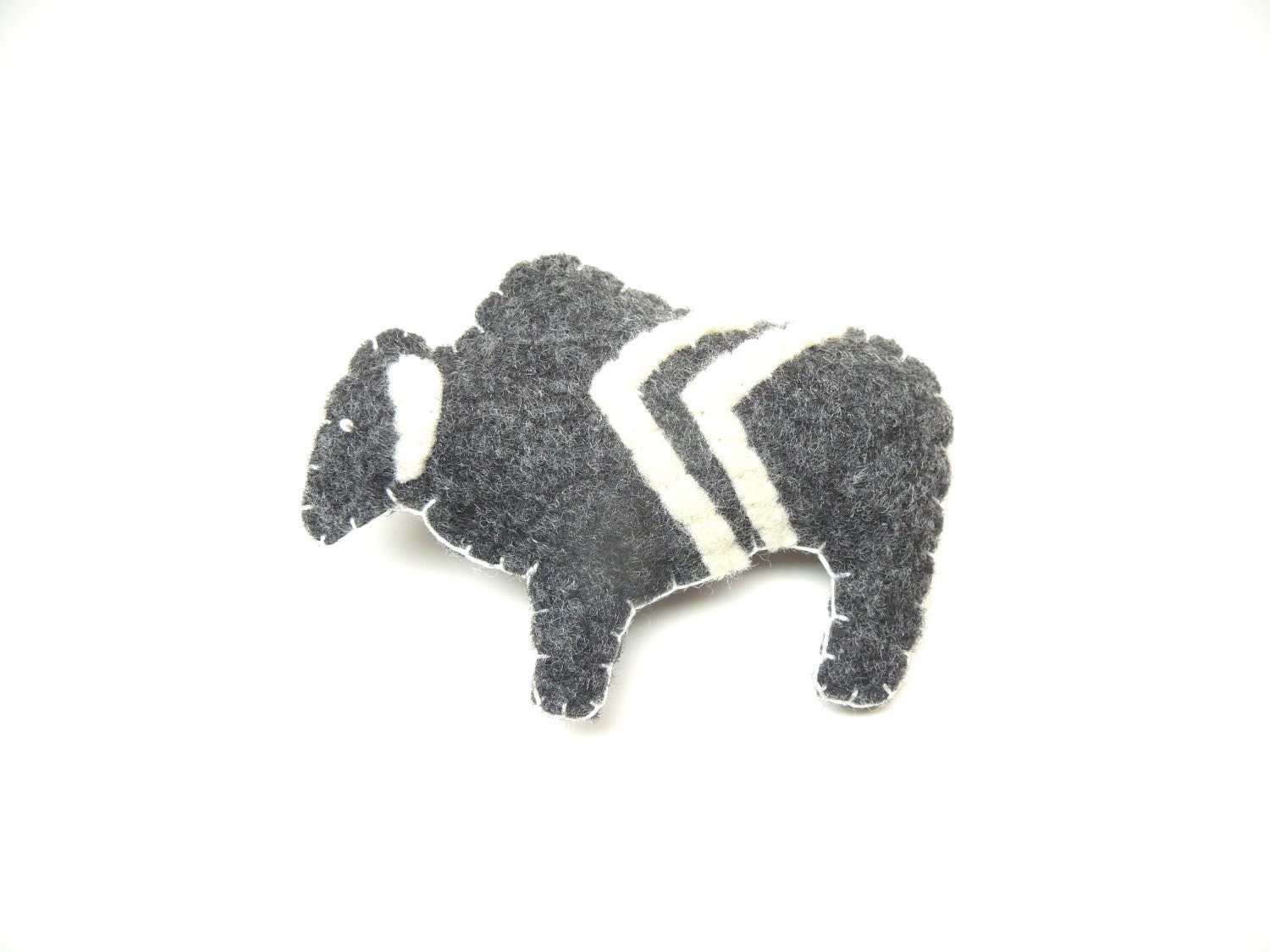 Grey white chevron buffalo bison totem magnet, number 176 - WillowandQuail