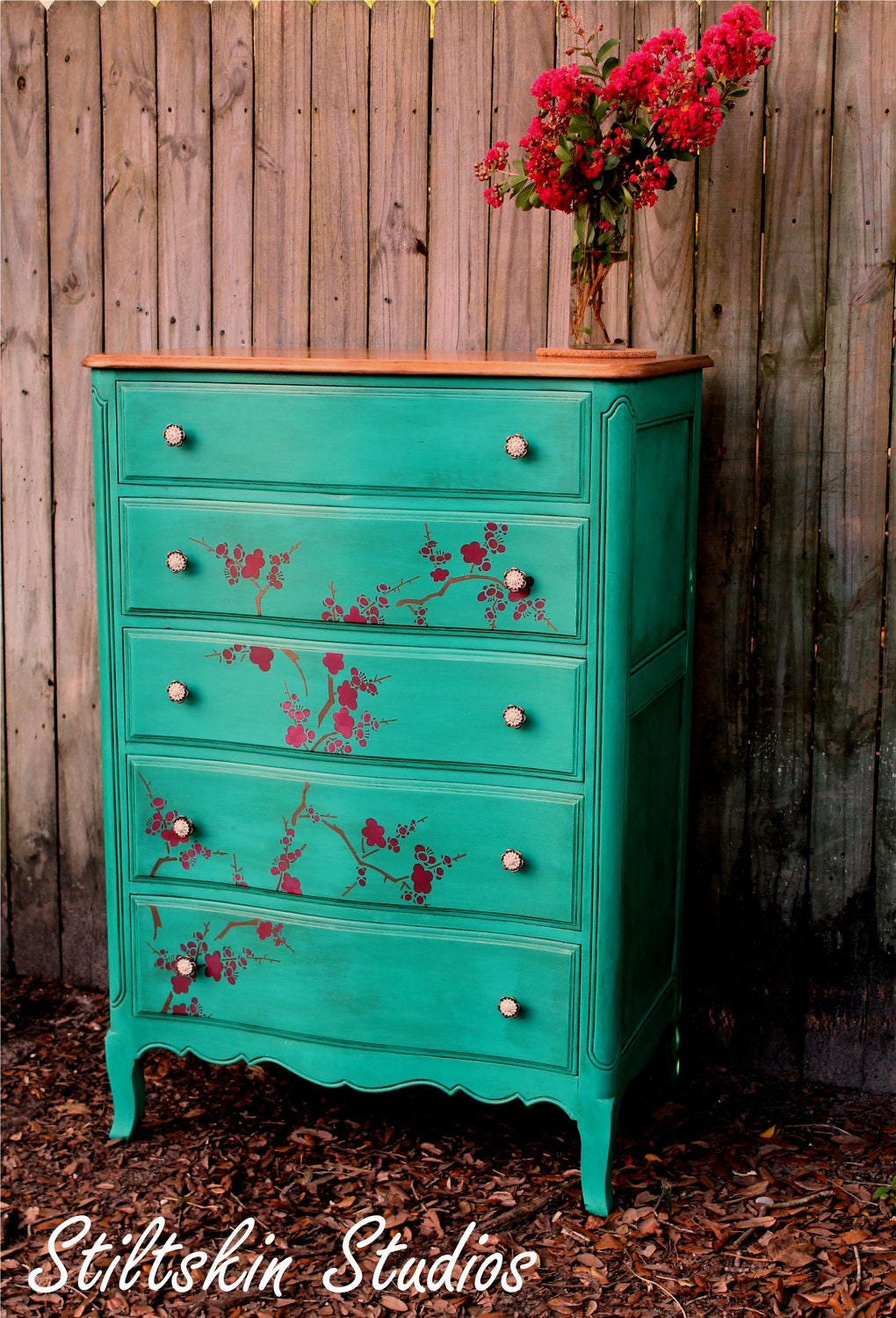 "La Boheme Collection ""Cherry Blossom"" French Tallboy Dresser - StiltskinStudios"