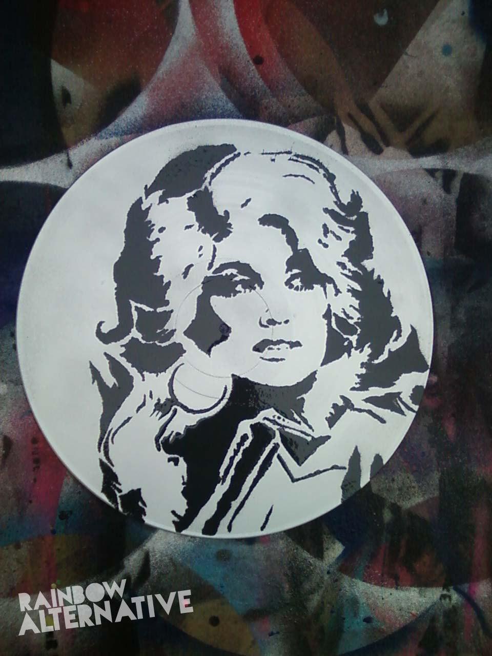 Dolly Parton Country Music Pop Art Vinyl By Rainbowalternative