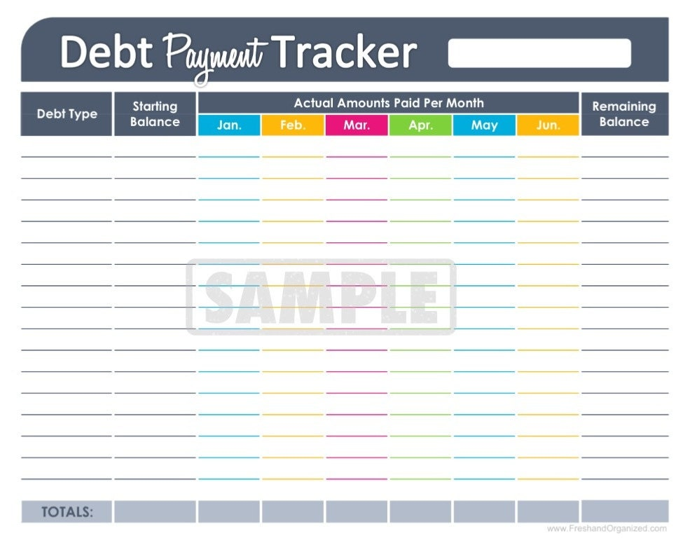 ... EDITABLE - Personal Finance Organizing Printables - INSTANT DOWNLOAD