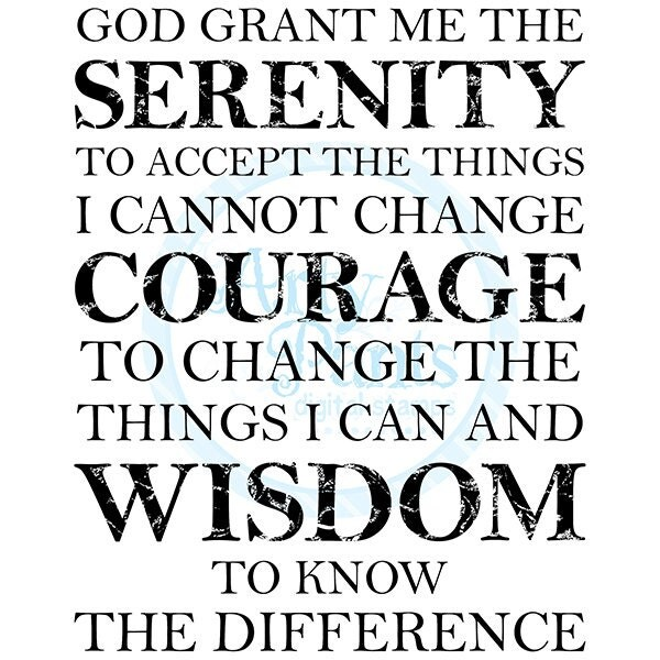 Candid image in free printable serenity prayer
