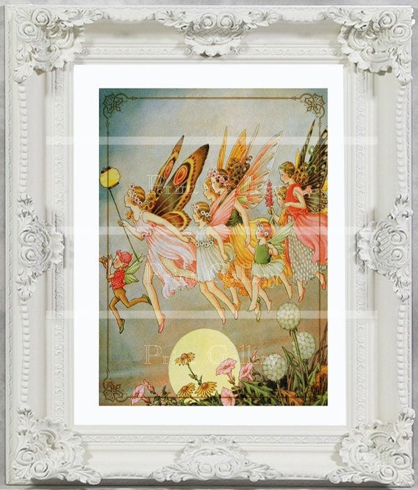 Shabby Chic Home Decor Fairy Print Girl Bedroom By