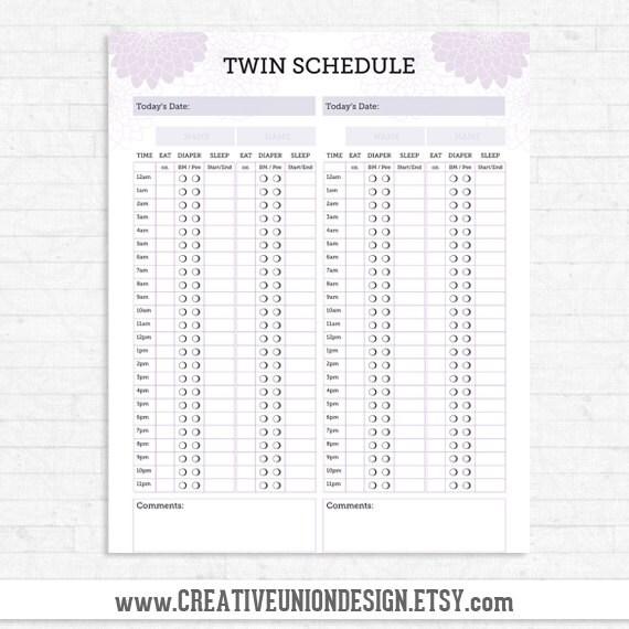 diaper schedule | etsy