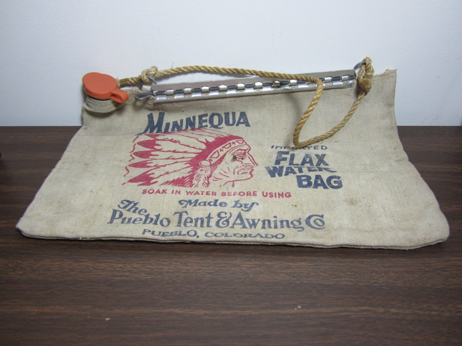 Vintage Minnequa Flax Water Bag By Ladyninanana On Etsy