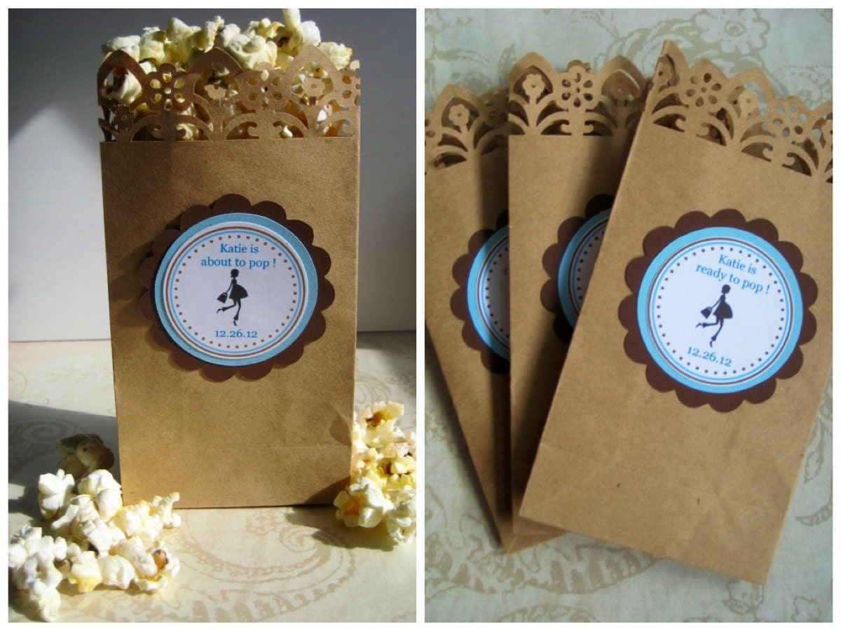 similar to popcorn favor bags boy baby shower baby shower favors