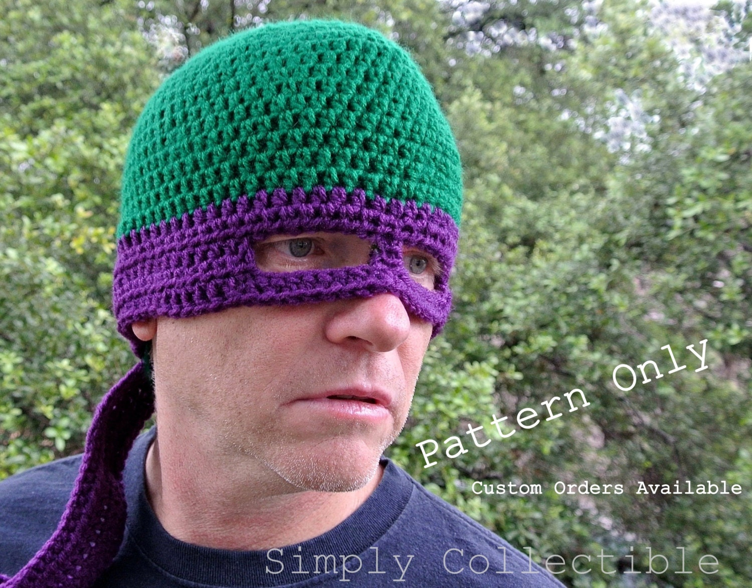 Free Crochet Pattern For Ninja Hat : Unavailable Listing on Etsy
