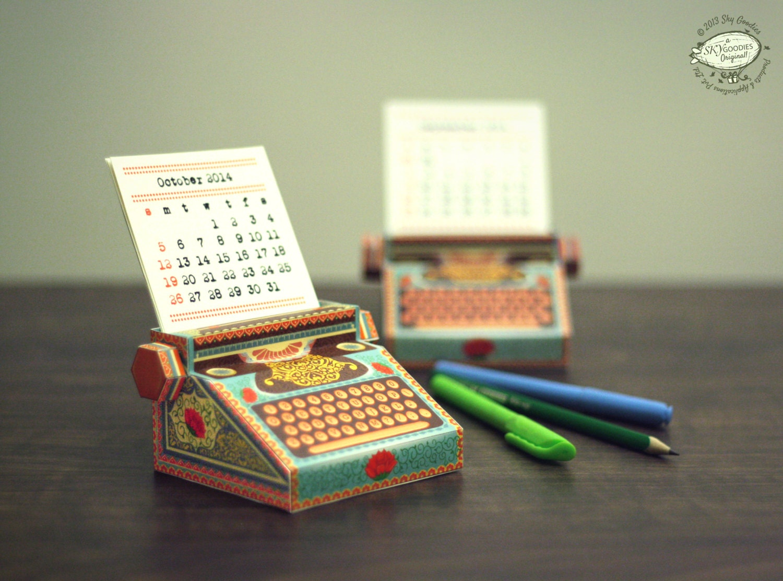 Diy Mini Desk Calendar : Etsyfinds diy printable paper desk calendar