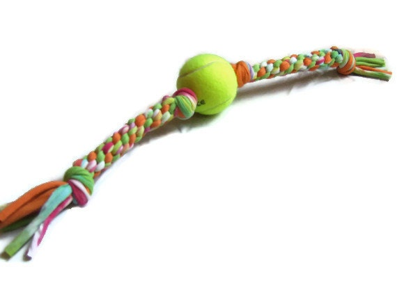 Upcycled dog toy tennis ball t shirt tug by for T shirt dog toy
