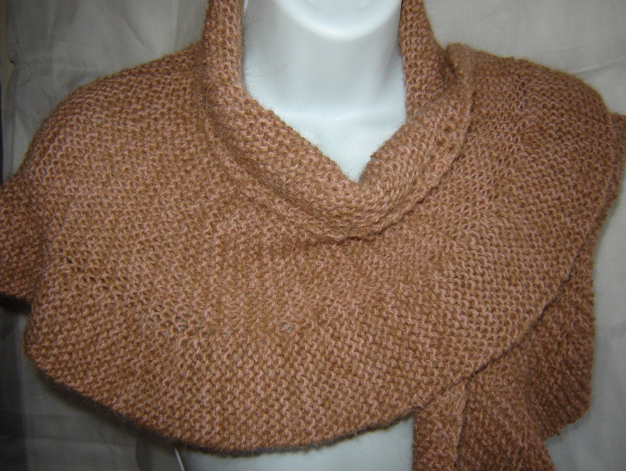 Luxury Hand Knit Jane Eyre Style Shoulder Shawl Wool by SwanAvenue