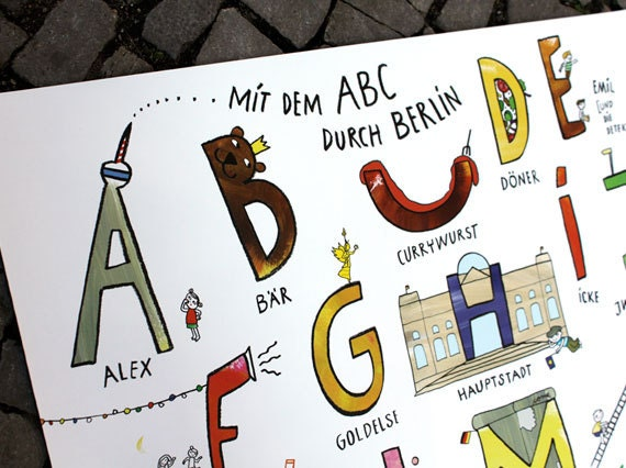 Berlin ABC, ABC, Poster - UlrikeJensen