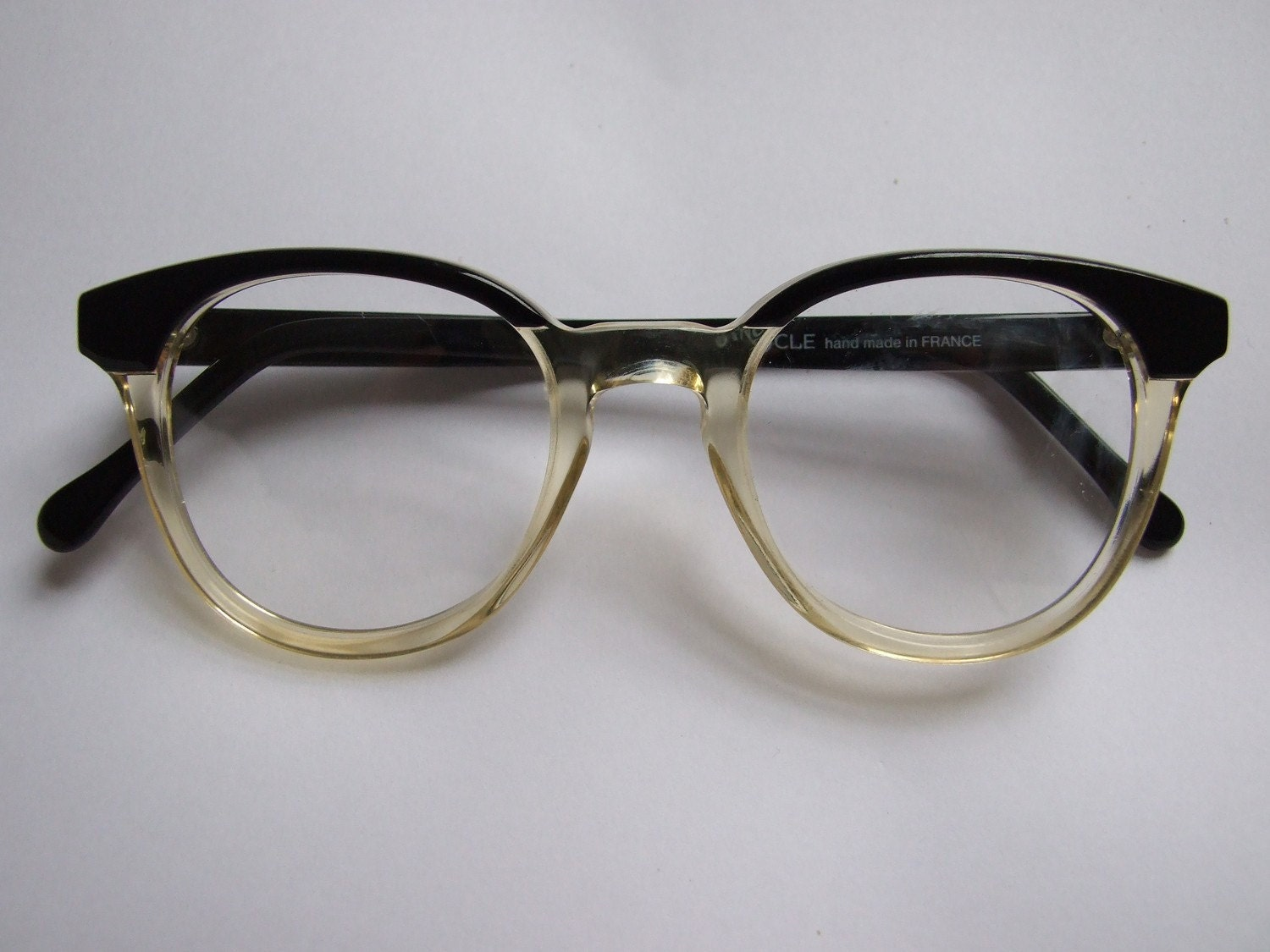 Vintage Eyeglass Frames Etsy : Binocle Two-Tone Vintage Glasses Frames by empireofdire on ...