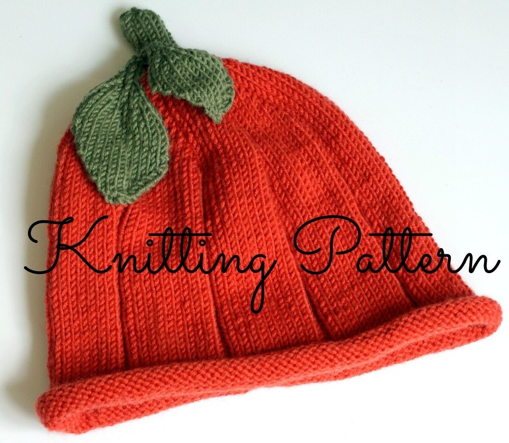 Knitting Pattern Baby Pumpkin Hat Debbie by BlueberryBarnDesigns
